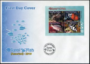 Papua New Guinea 2019. Reef Fish of Papua New Guinea (II) (Mint) First Day Cover