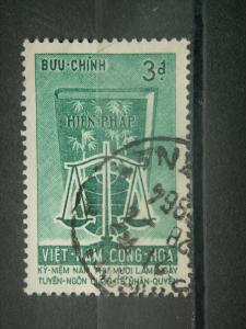 SOUTH VIETNAM, 1963, used 3pi, Human Rights. Scott 225