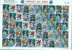 Denmark. Christmas Sheet Mnh 2003. Lions Club. Local Herlev. Christmas In Russia