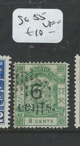 NORTH BORNEO   (P0108B)  6C/8C P&R LION CREST  SG 55   VFU