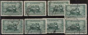 Canada - 1942 13c Tank X 8 Used #258