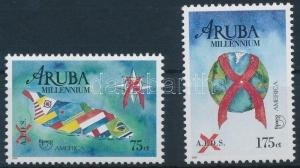 Aruba stamp Fight against AIDS set MNH 2000 Mi 254-255 Health WS231150