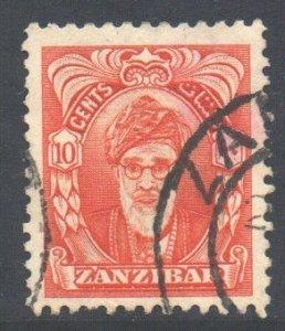 Zanzibar Scott 231 - SG340, 1952 Sultan 10c used