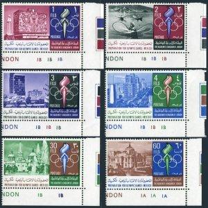 Jordan 538-538E,538F,MNH.Michel 658-663,Bl.40. Olympics Mexico-1968.Mexico City.