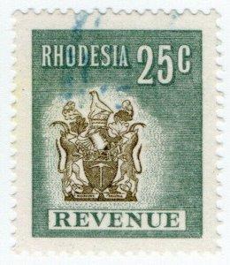 (I.B) Rhodesia Revenue: Duty Stamp 25c (1970)