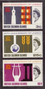 Solomon Islands Scott #171-173 MNH