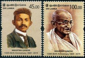 HERRICKSTAMP NEW ISSUES SRI LANKA Gandhi