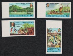 Central African Empire Captain Cook 4v Imperf margins 1978 MNH SG#578-581