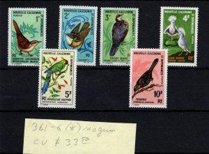 New Caledonia #361-366 No Gum MH - Stamp CAT VALUE $33.50