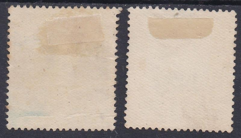 NEW ZEALAND 1926 KGV ADMIRAL 2/- AND 3/- USED