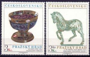 Czechoslovakia. 1977. 2375-76. Prague Castle. MNH.