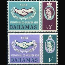 BAHAMAS 1965 - Scott# 222-3 Intl.Coop.Year Set of 2 NH