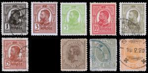 Romania Scott 217-220, 222-223, 226, 228-229 (1909-19) U/M H F-VF, CV $6.85 B