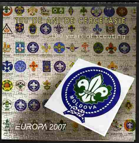 Moldova 2007 Europa - Scouting Folder with perf sheetlet ...