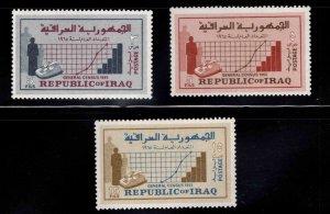 IRAQ Scott 390-392 MNH** Census stamp set