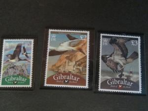 Gibraltar 2009 Sc 1202-4 Bird set MNH