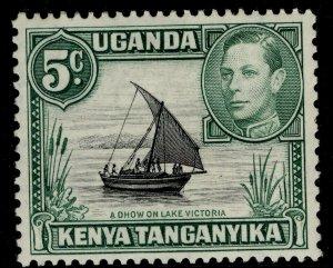 KENYA UGANDA TANGANYIKA GVI SG132, 5c black & green, M MINT.