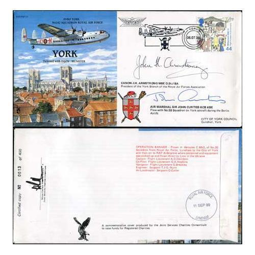 Raf Pandp 19d York Special Signed By J H Armstrong And Sir John Curtiss Hipstamp