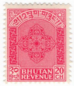 (I.B) Bhutan Revenue : Duty Stamp 20c