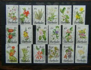 Barbados 1989 Wild Flowers set to $10 Used