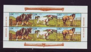 New Zealand Sc B120a 1984 Horses stamp sheet mint NH