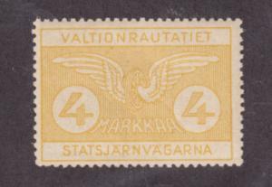 Finland HS 52 MLH. 1924 4m State Railway Stamp VF