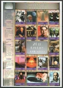 EC084 ST.VINCENT MILLENNIUM 1000-2000 20TH CENTURY 1930-1939 THE 1930'S 1SH MNH