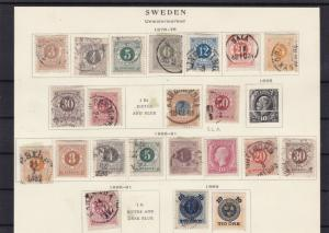 sweden 1876-89 mounted mint+ used stamps cat £350  ref 7265