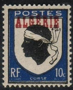 Algeria#206 - Overprint  - MNH