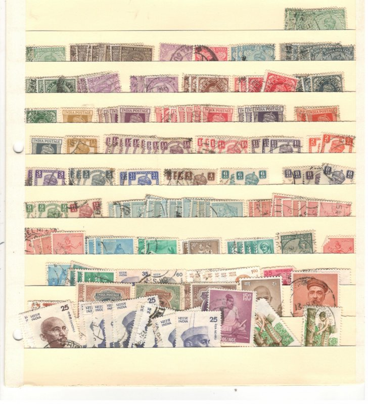 INDIA COLLECTION ON STOCK SHEET, MINT/USED