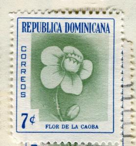 DOMINICA;  1957 early Flowers Mint hinged 7c. value