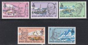 Br. Antarctic Territory # 77-81, Explorers & Scenes, NH, 1/3 Cat.