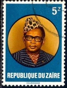President Joseph D. Mobutu, Zaire stamp SC#884 Used
