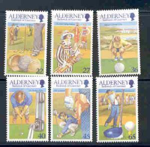 Alderney Sc 170-5 2001 Golf Club stamps mint NH
