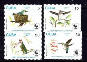 Cuba 3428-31 MNH 1992 Birds    #2