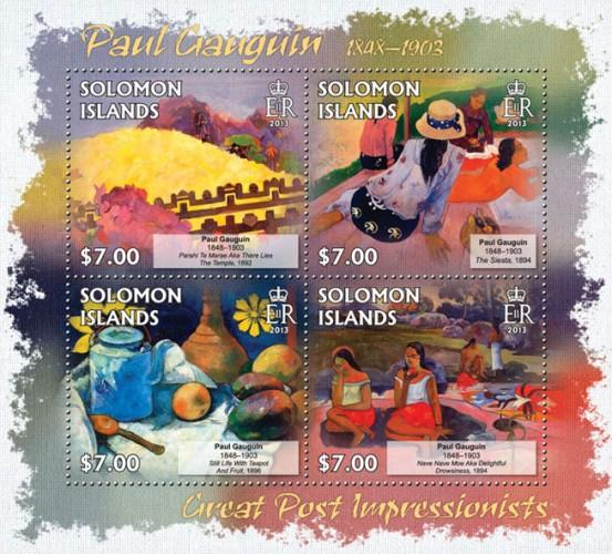 SOLOMON ISLANDS 2013 SHEET GAUGUIN ART PAINTINGS slm13214a