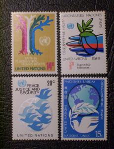 United Nations Scott #304-307 mnh