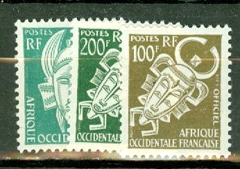 French West Africa O1-12 mint CV $51.65