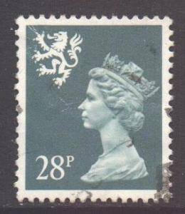 GB Regional Scotland, 1971 Machin 28p used