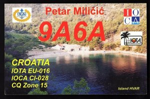 QSL QSO RADIO CARD Photo of Island HVAR/Petar Milicic,9A6A,2005,Croatia(Q2165)