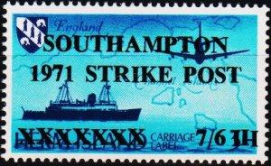 Great Britain. 1971 7s6d Southampton Postal Strike. Unmounted Mint
