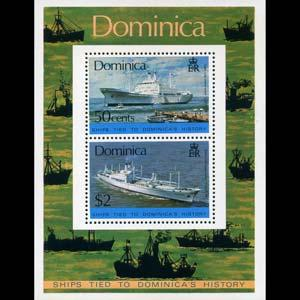 Dominica MNH S/S 440a Ships 1975