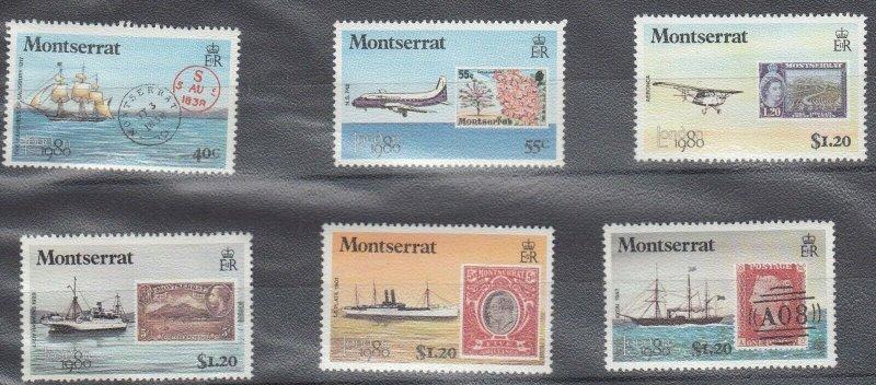 Montserrat MNH Set Transport Ships & Planes 1980