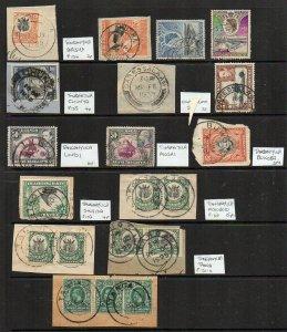 Tanganyika: 1920s-50s postmark group (19+ stamps)