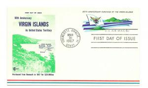 UXC6 6c Virgin Islands Cover Craft Cachets, (CCC) FDC