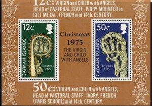 CAYMAN ISLANDS - Christmas 1975 Mini Sheet