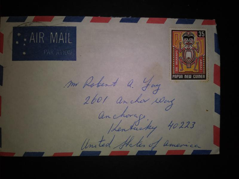 Air Mail envelope new guinee