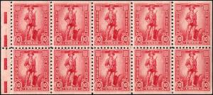 WS7b Mint,OG,NH... Booklet Pane... SCV $55.00
