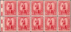 WS7b Mint,OG,NH... Booklet Pane... SCV $55.00... XF