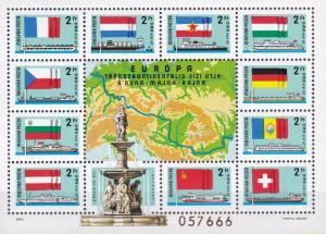 Hungary 1977 Scott 2514 European Intercontinental Danube Conference FLAG  VF/NH.